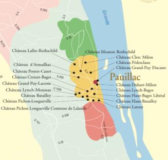 Mapa de Pauillac