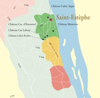 Mapa de Saint-Estèphe